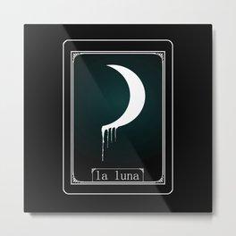 Luna Tarot Card Metal Print