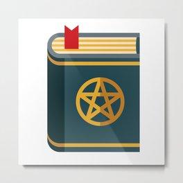 Magical Spell Book Metal Print