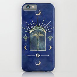 Palm Tree Oriental Moon Magical Moment iPhone Case