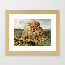 The Tower of Babel 1563 Framed Art Print