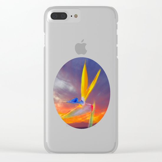Sunset Flow Clear iPhone Case