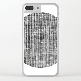 Shady Circle Clear iPhone Case