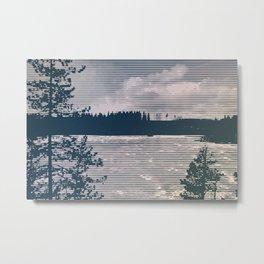 Frozen lake and trees Metal Print