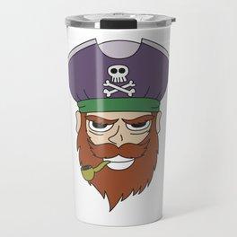 Pipe Smoking T-Shirt For Pipe Smoker Captain Pipe Travel Mug