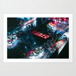 Flipper arcade bar Art Print