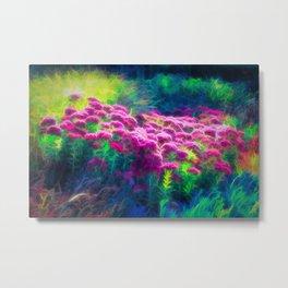 Glowing Floral Dream Metal Print