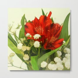 Modified - Still life with flowers Metal Print