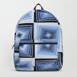 Navy Blue Geometrical Tunnels Backpack