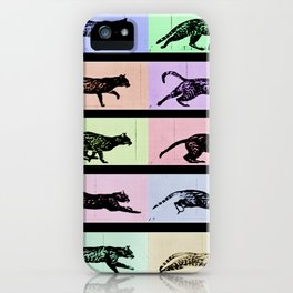 Time Lapse Motion Study Cat Black and Color Cat Mom Cats iPhone Case