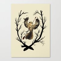 to kill a mockingbird Canvas Prints featuring Mockingbird by Geraldine Sy