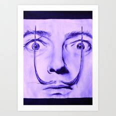 Purple Dali  Art Print