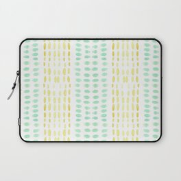 Striped dots and dashes Laptop Sleeve