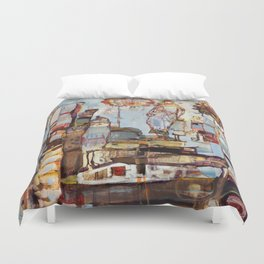 Step Lightly Duvet Cover