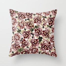 Vintage Flowers At Night #society6 Throw Pillow