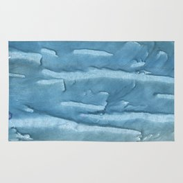 Cadet blue colored watercolor pattern Rug