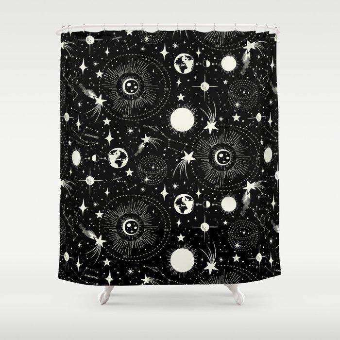 Solar System Shower Curtain By Heatherduttonhangtightstudio