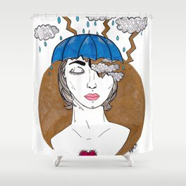 Storm In My Head Shower Curtain