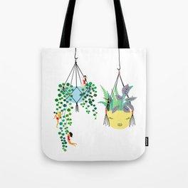 2 plants in hangers Tote Bag