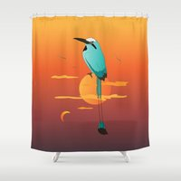 oklahoma Shower Curtains featuring Oklahoma Bird by HK Chik