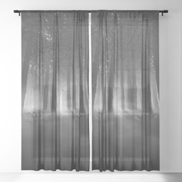Soul of the Forest B&W Sheer Curtain