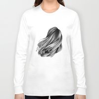 hair Long Sleeve T-shirts featuring hair by Isabel Seliger