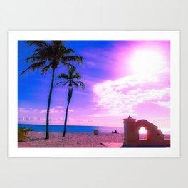 Fort Lauderdale Beach Glows Art Print