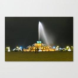 Fountain #1 Small Canvas Print