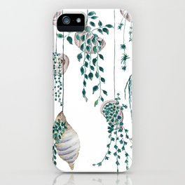 hanging plant in seashell iPhone Case