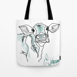CURIOUS COW Tote Bag