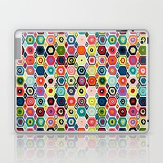 hex diamond white Laptop & iPad Skin