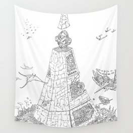 The Tower of Selfish.(Line) Wall Tapestry