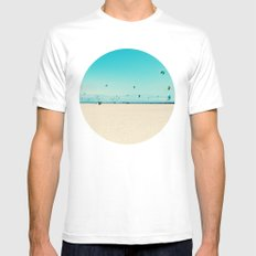 KITE SURFING Mens Fitted Tee MEDIUM White