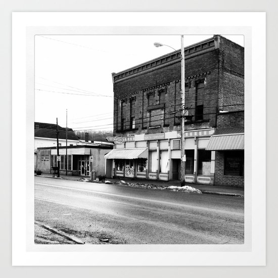 Ohio Ghost Town... Art Print