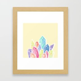 Crystals Yellow Framed Art Print