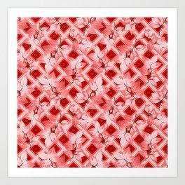 Pink Op Art Autumn Art Print