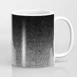Silver & Black Glitter Gradient Coffee Mug