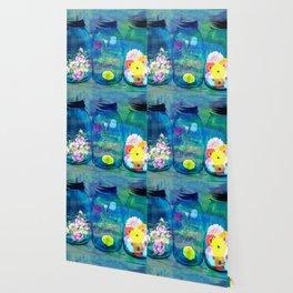 Flowers Jars Wallpaper