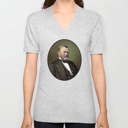 President Ulysses Grant Unisex V-Neck