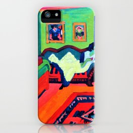 Interieur with Two Girls - Ernst Ludwig Kirchner iPhone Case