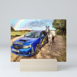 Scooby WRC horse Mini Art Print