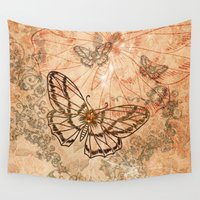 butterflies Wall Tapestries featuring Butterflies by nicky2342