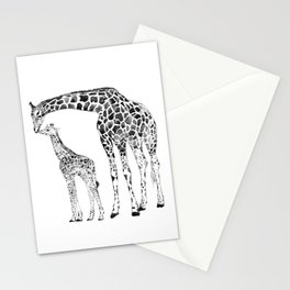 Giraffes, black and white Stationery Cards