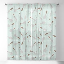 Spoons and Knife Sheer Curtain