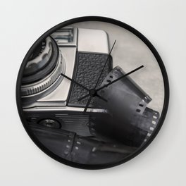 Vintage Camera and Film Wall Clock