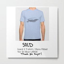 sold lizard 2 T-shirt Metal Print