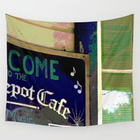 cafe Wall Tapestries featuring Cafe by Glenn Designs