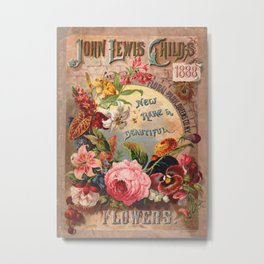 096-Flowers, Roses, Pansies, Lily, amaryllis, Frame4 Metal Print