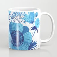blues Mugs featuring BLUES by Oana Befort