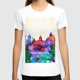 Des Moines Skyline T-shirt