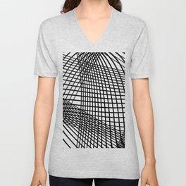 black mesh Unisex V-Neck
